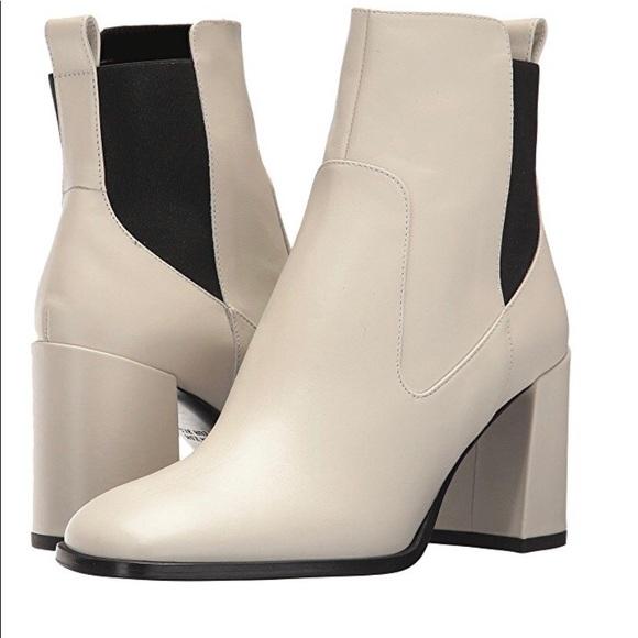 Leather Square Toe Boots   Poshmark